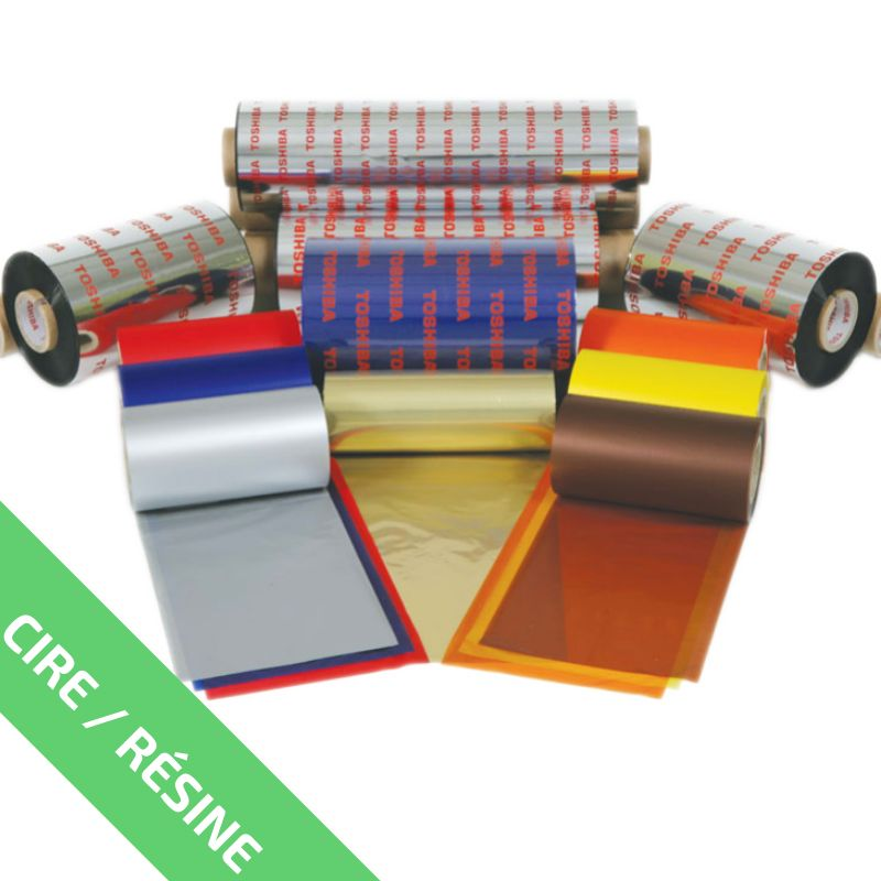 Ruban Cire-Résine Metallic Blanc AG4SMW 55mm x 300m - Imprimantes TOSHIBA
