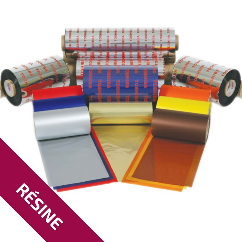 Ruban Résine Blanc AS1SWH 89mm x 300m - Imprimantes TOSHIBA