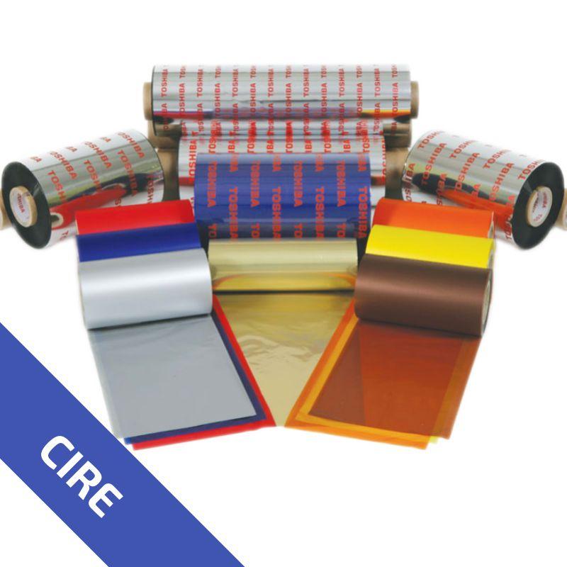 Ruban Cire Rouge AW1RE 220mm - longueur 300m - Imprimante TOSHIBA   Rubans Thermique
