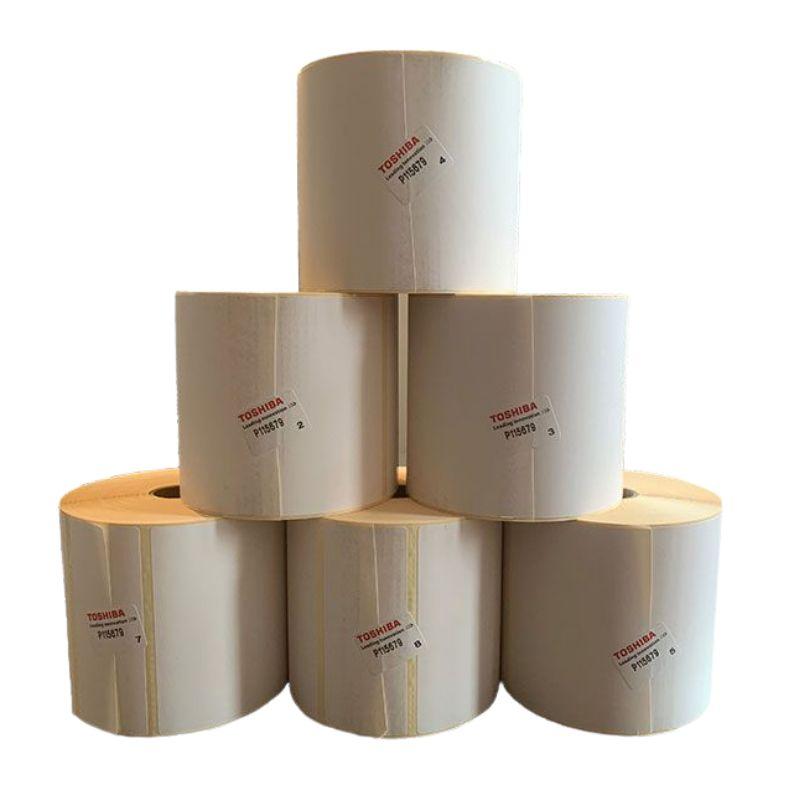 Etiquettes transfert thermique 102x102 mm mandrin 25 mm rouleau de 662 étiquettes