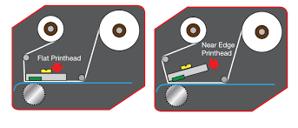 Imprimante étiquette avec tête Near edge